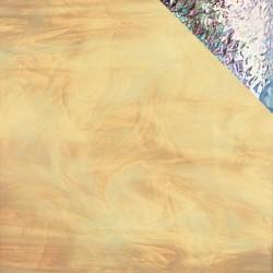 ambre pâle/blanc, translucide iridescent