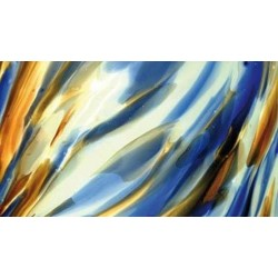 bleu, marron et blanc opalescent bariolé