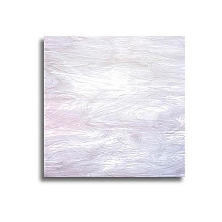 blanc opalescent et clair, translucide