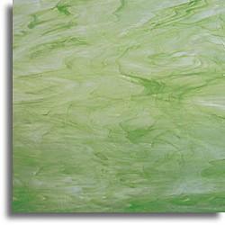 vert clair et blanc, semi-translucide