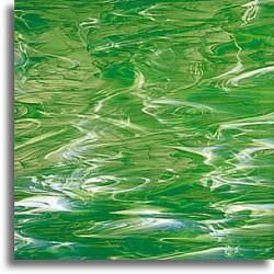 vert clair et blanc, wispy