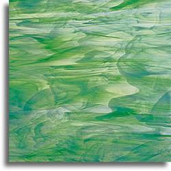vert foncé et blanc, semi-translucide