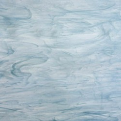bleu colonial et blanc, semi-translucide