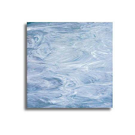 bleu acier et blanc