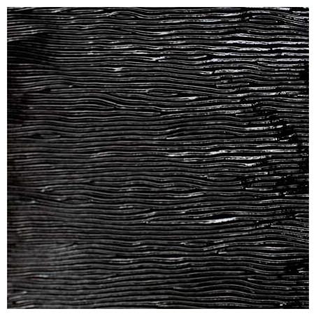 noir, opalescent cordelé 6mm