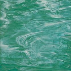 vert canard/blanc, translucide