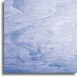 bleu clair/blanc, semi-translucide