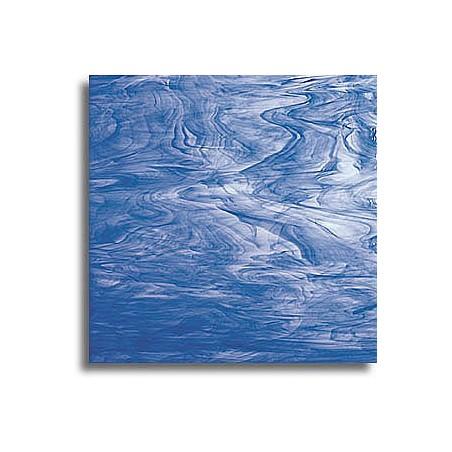 bleu foncé/blanc, semi-translucide