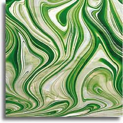 vert émeraude/blanc/clair Baroque