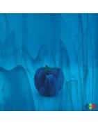 verre Spectrum bleu pour le vitrail