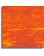 verre Spectrum orange pour le vitrail