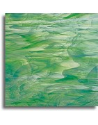verre Spectrum vert pour le vitrail